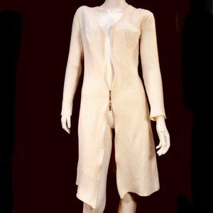 Wolford Ivory Merino Wool Midi Dress